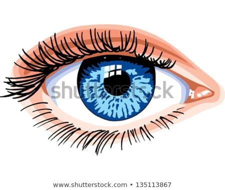 Humanos ojo icono símbolo estilizado signo Foto stock © blaskorizov