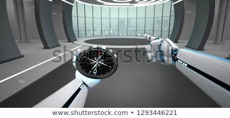 humanoid robot hands hint compass stock photo © limbi007