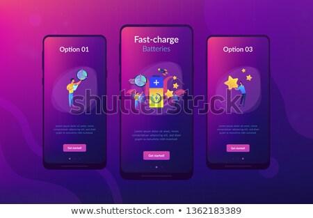 Snel technologie app interface sjabloon ingenieurs Stockfoto © RAStudio