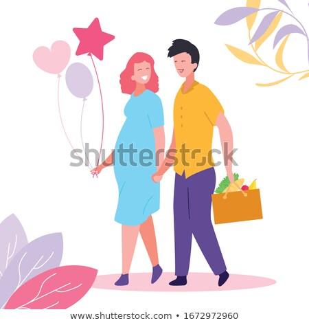 verão · tshirt · casal · ver · adolescente - foto stock © robuart