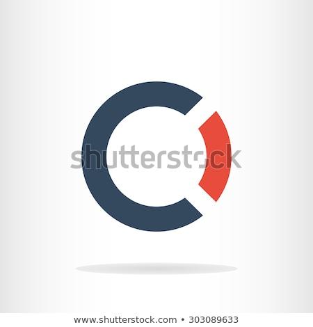 red sign symbol o logo letter design element Stock photo © blaskorizov