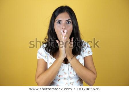 女性 驚いた 表情 実例 顔 幸せ ストックフォト © colematt