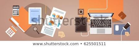 Numérique analytics portable cellule données écran Photo stock © robuart