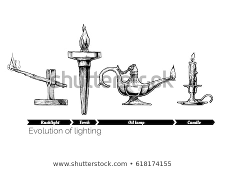 sketch of torch isolated on a white background vector stock photo © arkadivna