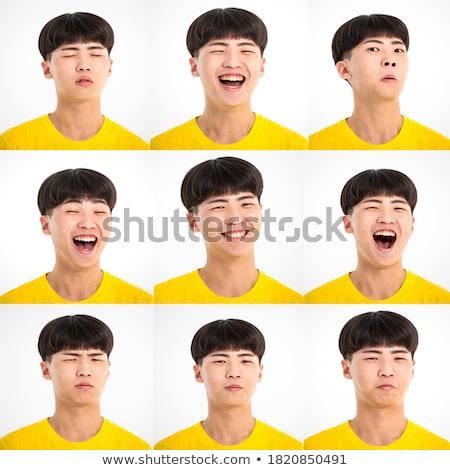 Différent expressions faciales illustration visage heureux Photo stock © colematt