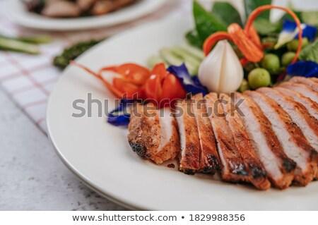 горох лук мята иллюстрация продовольствие Сток-фото © colematt