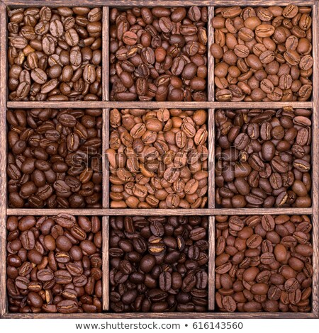 Rico marrom grãos de café mar abstrato Foto stock © sarahdoow