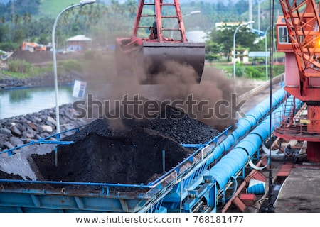 Unloading dirt from the ship Stock photo © jsnover