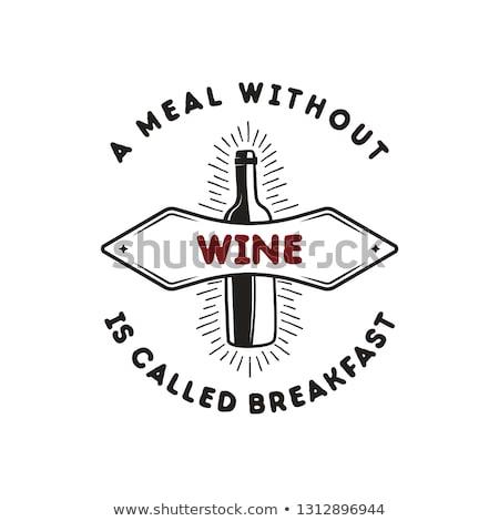 vinho · compras · logotipo · etiqueta · orgânico · distintivo - foto stock © jeksongraphics