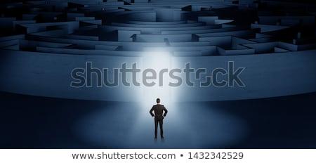 empresario · concéntrico · laberinto · listo · negocios - foto stock © ra2studio