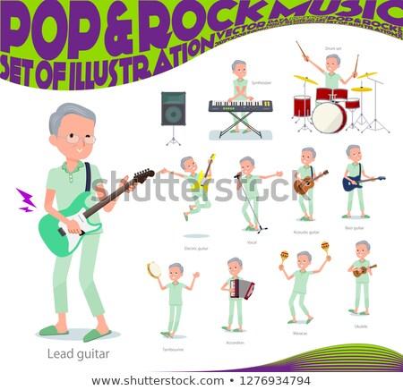 Pacjenta starych muzyki zestaw stary gry Zdjęcia stock © toyotoyo