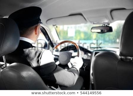 mężczyzna · kierowca · posiedzenia · samochodu · portret · przystojny - zdjęcia stock © andreypopov