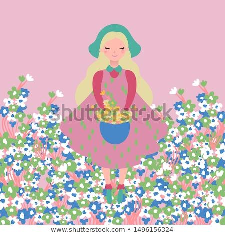 области розовый Полевые цветы мало нежный цветы Сток-фото © Anna_Om