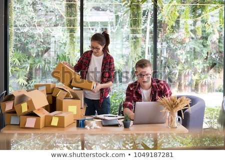 e commerce delivery concept and online selling start up small bu stock photo © snowing