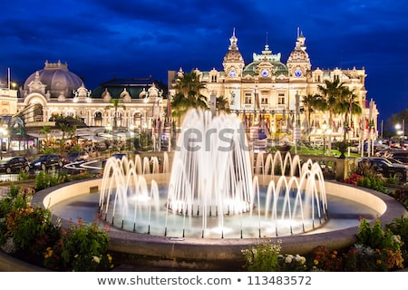 fontein · casino · Monaco · licht · reizen · nacht - stockfoto © frimufilms
