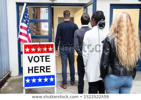 люди Постоянный за пределами голосование комнату группа Сток-фото © AndreyPopov