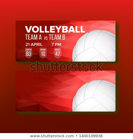 Red Coupon On Volleyball Game Template Vector Stock photo © pikepicture