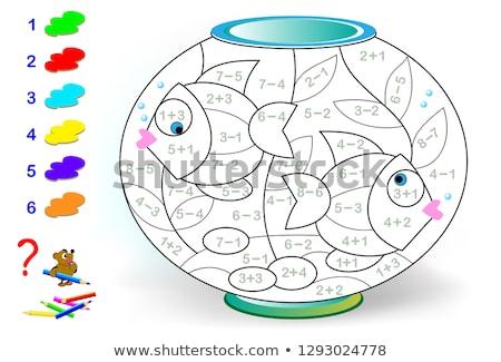 数学 · 番号 · ゲーム · 実例 · ツリー · 背景 - ストックフォト © bluering
