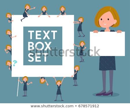 flat type White dress women_text box Stock photo © toyotoyo