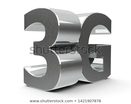 Fém ikon 4g szimbólum gomb izolált Stock fotó © Oakozhan