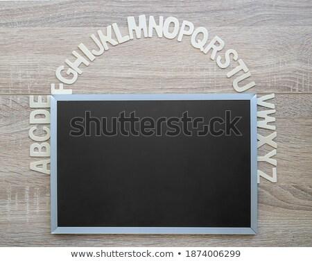 Alfabeto estudar inglês madeira Foto stock © stoonn