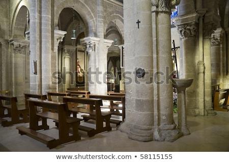 Interior of San Giovanni Battista church in Matera, Italy Stock photo © boggy