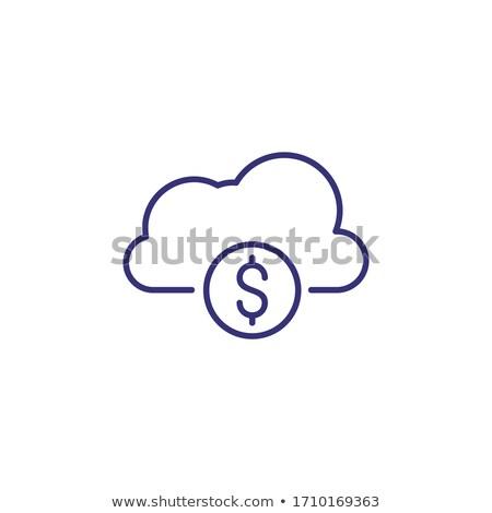 Wolke Geld line Symbol Dollar Symbol Stock foto © kyryloff