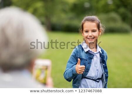 familie · gelukkig · gezin · grootvader · onderwijs · moderne - stockfoto © dolgachov