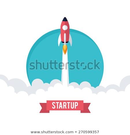 Startup business ontwikkeling raket vector Stockfoto © robuart