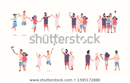 Friends posing to the camera  Stock photo © iko