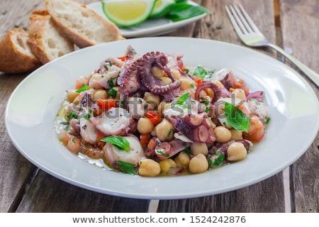 Salada saudável polvo comida verde jantar Foto stock © trexec