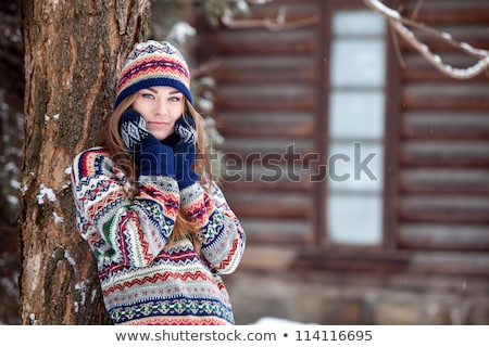 Attractive young woman in wintertime outdoor Stock photo © Lopolo