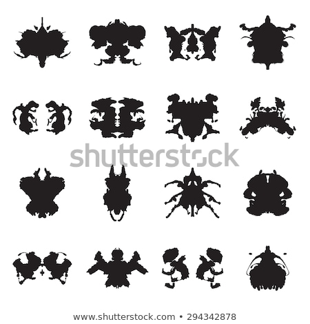 Rorschach Test Ink Blob Collection Stock photo © patrimonio