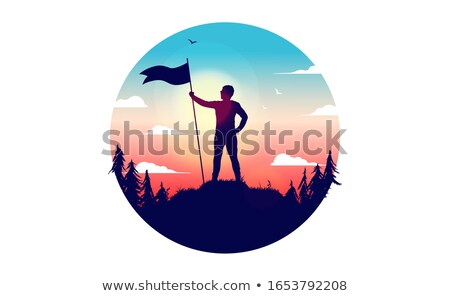 Workers Rising Hands, Successful Mission Vector Stock photo © robuart