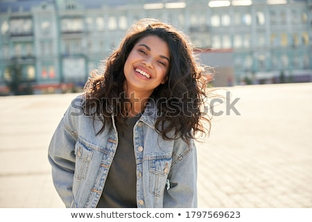 Portrait joli dame élégant denim Photo stock © majdansky