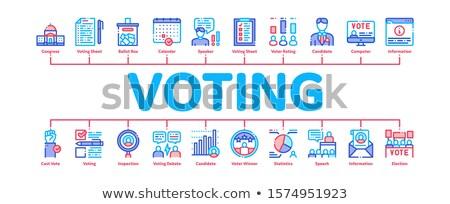 Elezioni infografica banner vettore Foto d'archivio © pikepicture