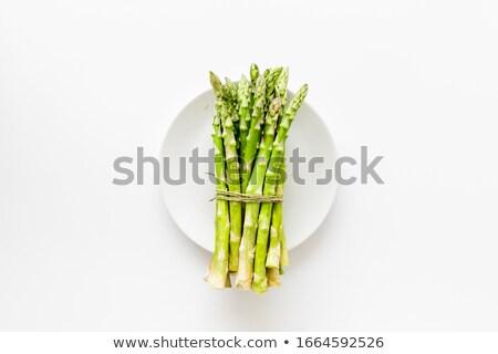 Taze kuşkonmaz plaka gıda arka plan Stok fotoğraf © Alex9500