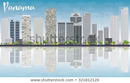Panama grijs wolkenkrabbers blauwe hemel gebouw Stockfoto © ShustrikS