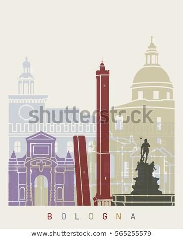Abstract Bologna Skyline with Color Landmarks.  Stock photo © ShustrikS