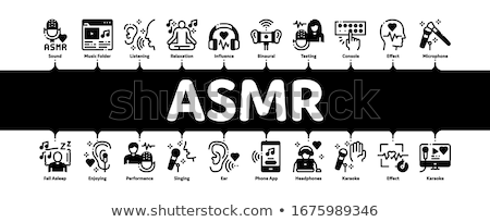 Asmr Sound Phenomenon Minimal Infographic Banner Vector Stock photo © pikepicture
