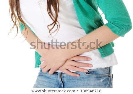 Sick Woman With Abdominal Period Pain Stock photo © AndreyPopov