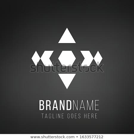логистика доставки логотип шаблон шестиугольник четыре Сток-фото © kyryloff