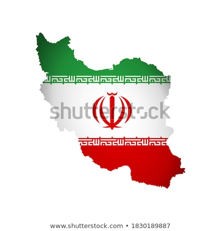 Iran flag and hand on white background. Vector illustration Stock photo © butenkow