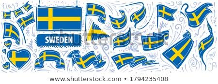 Vektor szett zászló Svédország különböző kreatív Stock fotó © butenkow