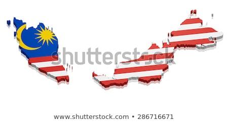 マレーシア 国 シルエット フラグ 孤立した 白 ストックフォト © evgeny89