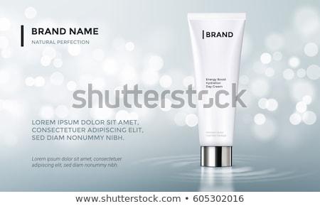 Pó cara cuidados com a pele cosméticos make-up vetor Foto stock © pikepicture