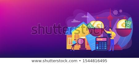 értékbecslés szolgáltatások szalag fejléc ingatlan ügynökség Stock fotó © RAStudio