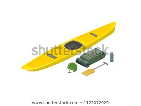 Barco capacete isométrica ícone vetor assinar Foto stock © pikepicture