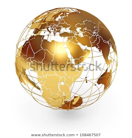 dourado · globo · américa · isolado · branco · terra - foto stock © chrisroll