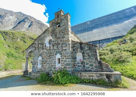 Capilla Suiza pequeño piedra 1930 trabajadores Foto stock © Elenarts